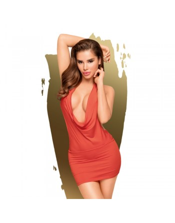 Robe décolletée et string assorti Rouge Heart rob - PH0060RED